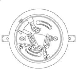 画像1: 【Panasonic パナソニック】確認灯付感知器ベース(2信号感知器用)埋込型[BV4867]