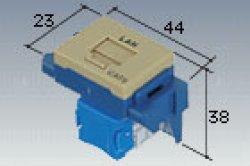 画像1: 【Panasonic パナソニック】 NR3170G ぐっとすシリーズ情報モジュラジャック(CAT6)(埋込型)(利休色)